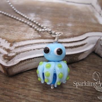 Octopus - Glass Lampwork Focal Bead