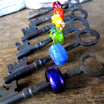 Skeleton Key Pendants, waiting to be made into jewelry