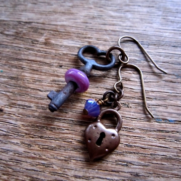 SW Studios - Glass Lampwork Bead Skeleton Earrings