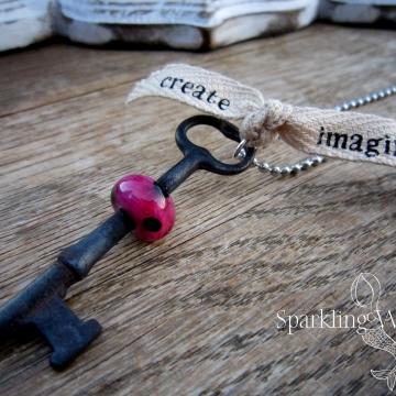 Create - Inspire -- Skeleton Key Necklace